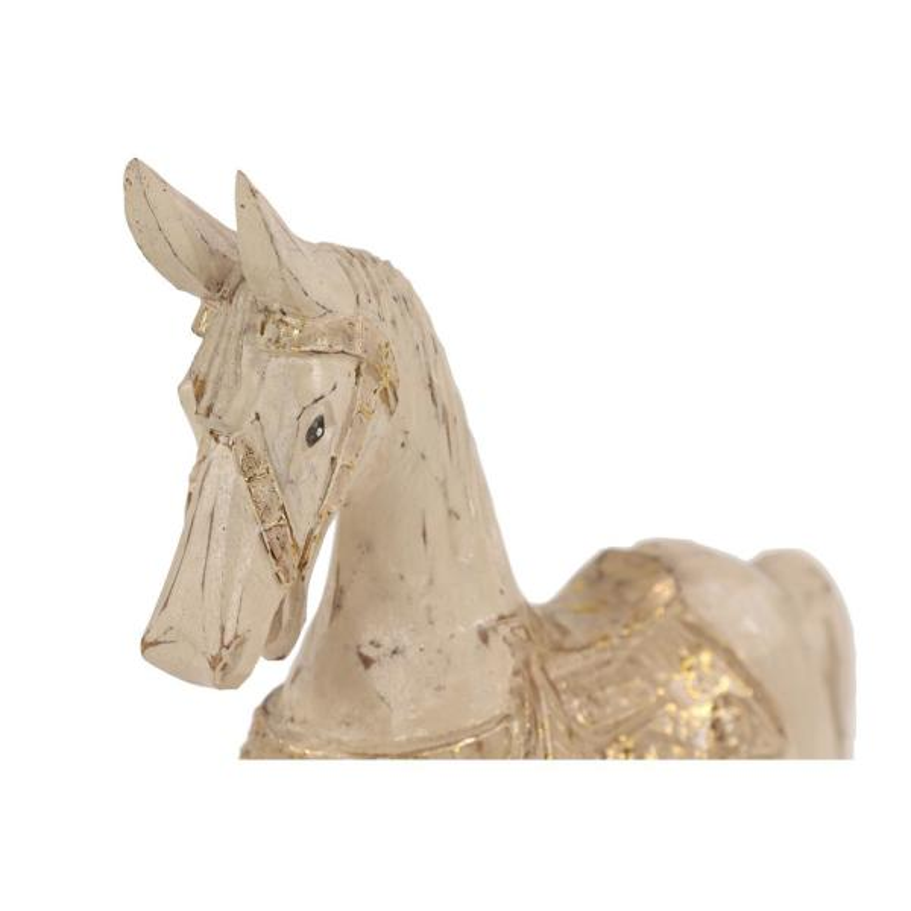 Dark Brown Horse Stand Hand Craft Resin Figurine Statue Home Decor Collectible