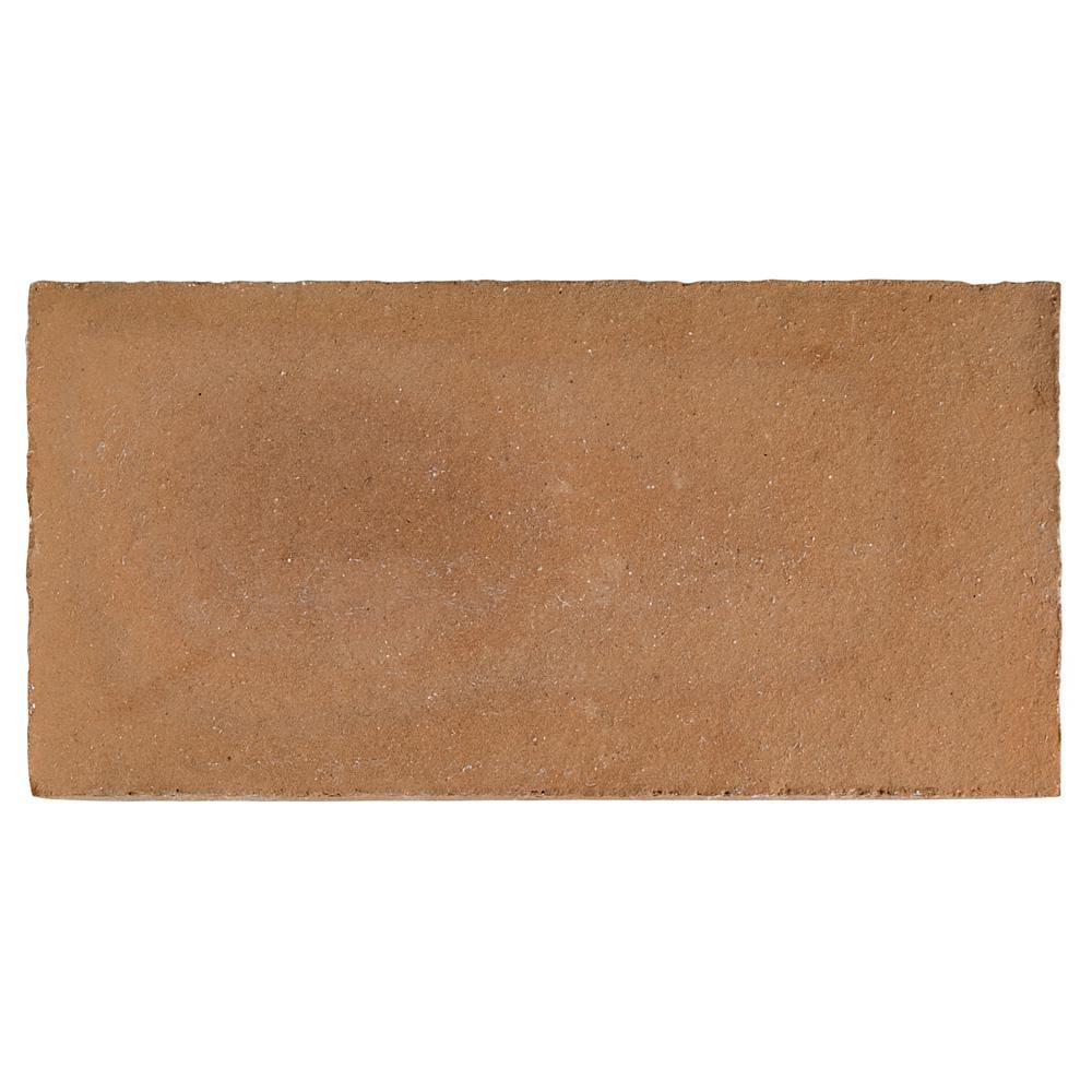 Merola Tile Trevol Rectangle 5-1/2 in  x 10-3/4 in  Spanish Terra Cotta  Ceramic Floor and Wall Paving Tile