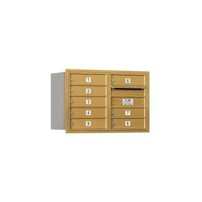 3700 Series 20 in. 5 Door High Unit Gold Private Rear Loading 4C Horizontal Mailbox with 8 MB1 Doors