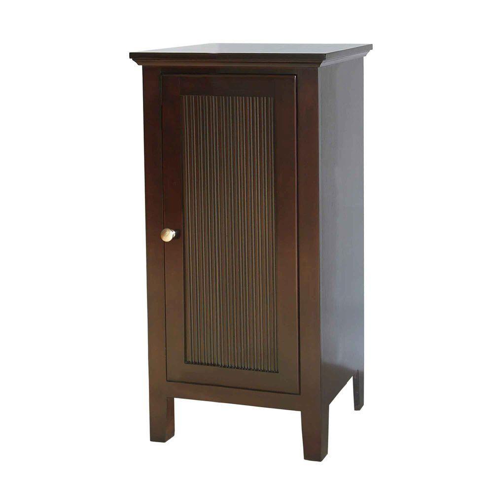 null Pegasus 17 in. W Matchstick Floor Cabinet in Dark Brown Cherry