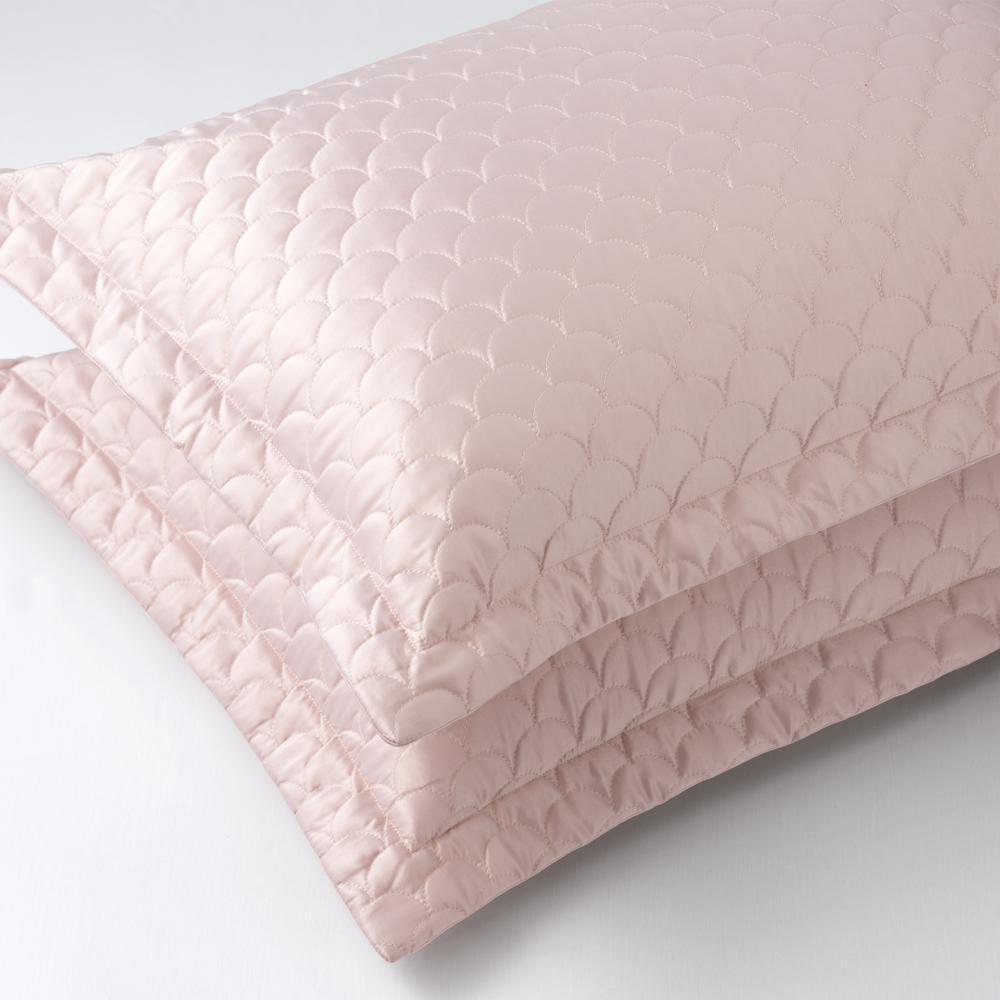 Nikki Chu Rose Gold Queen Quilted Pillow Sham