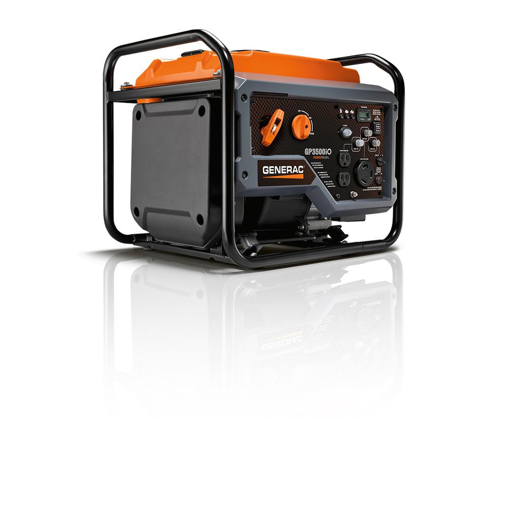 Generac GP3500iO 3500-Watt Gasoline Powered Recoil Start Inverter Generator with PowerRUSH Technology -Open Frame - 50 State/CSA