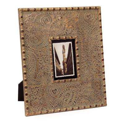 Lenor 1-Opening 4 in. x 6 in. Metallic Picture Frame
