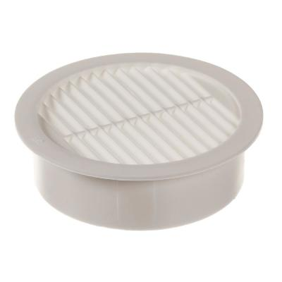 2 in. Resin Circular Mini Wall Louver Soffit Vent in White (6-Pack)