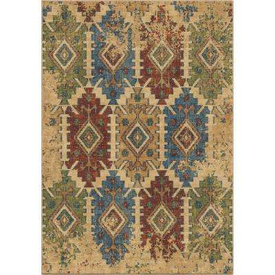 Eastern Tiles Southwest Beige 5 ft. 3 in. x 7 ft. 6 in. Area Rug