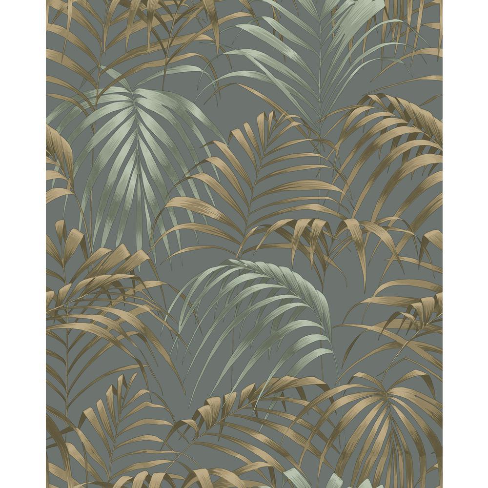 Raja Green Palm Wallpaper Sample