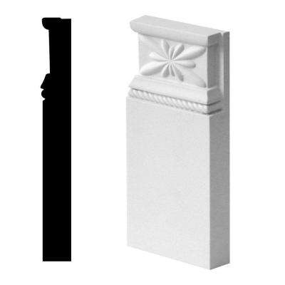 1-1/8 in. x 4-5/16 in. x 9-1/16 in. Primed Polyurethane Rope Plinth Block Moulding