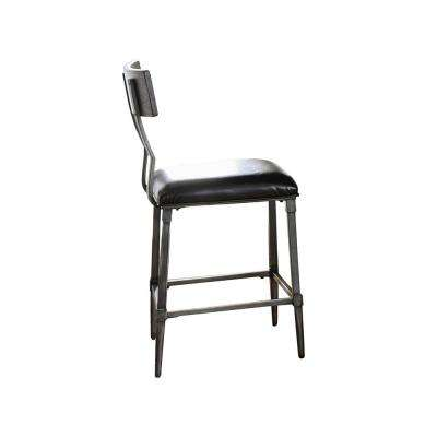Gray Counter Height Gray Metal Chair (Set of 2)