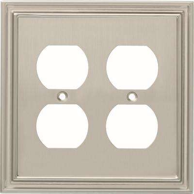 Silverton 2-Gang Duplex, Satin Nickel