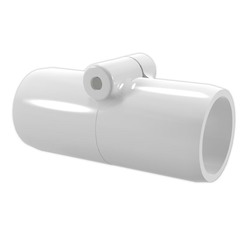 3/4 in. Furniture Grade PVC Inline Folding Coupling in White (2-Pack)
