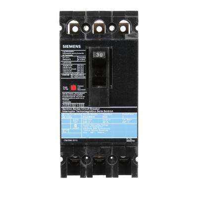 30 Amp 3-Pole Type ED 10 kA Circuit Breaker