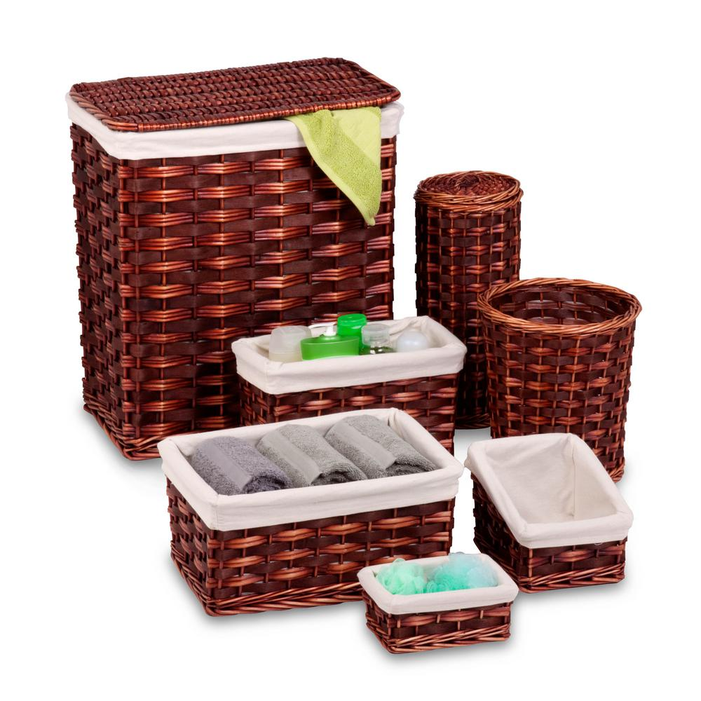 Wicker Hamper Kit (7-Piece)