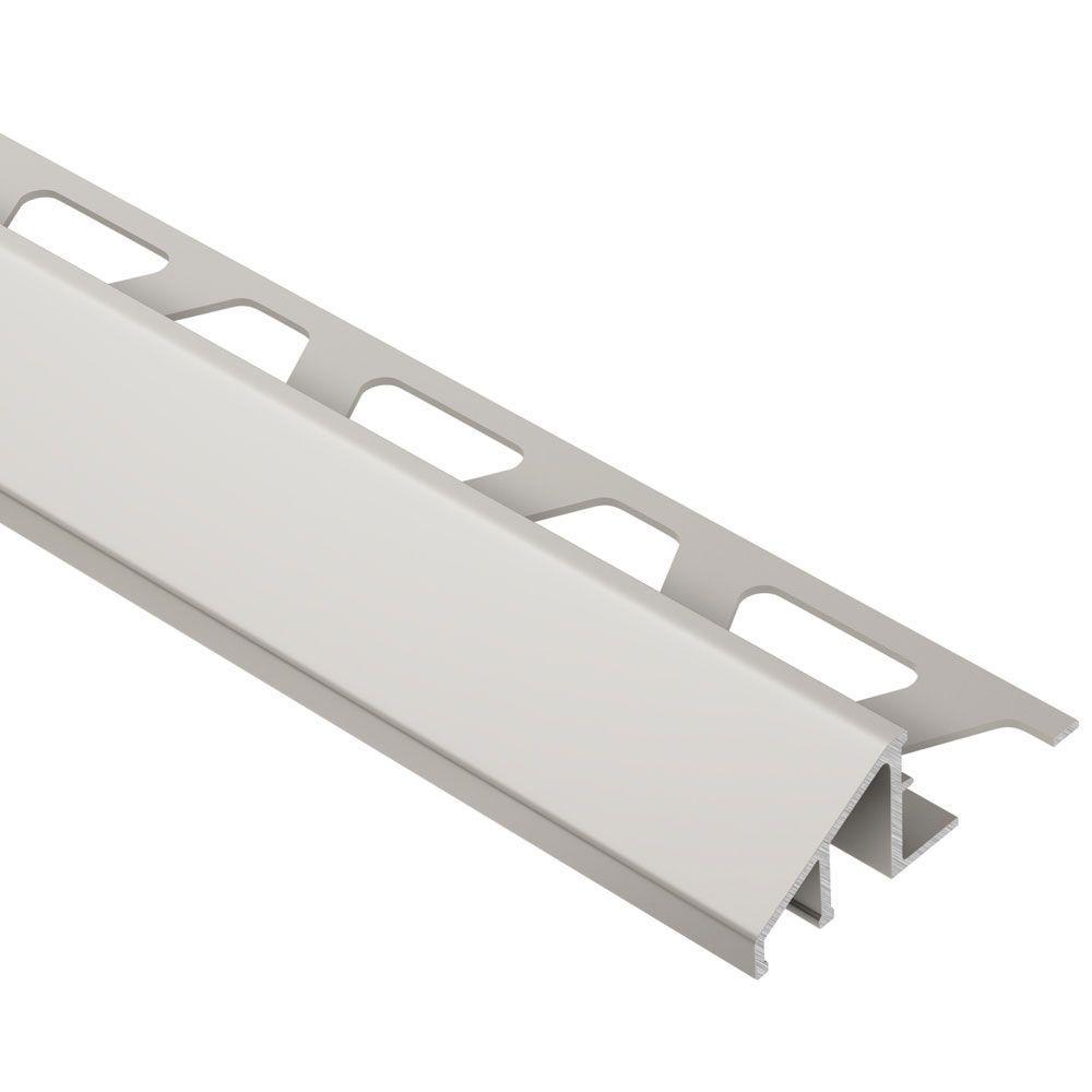 Schluter Reno-U Satin Nickel Anodized Aluminum 1/2 in. x 8 ft. 2-1/2 in. Metal Reducer Tile Edging Trim