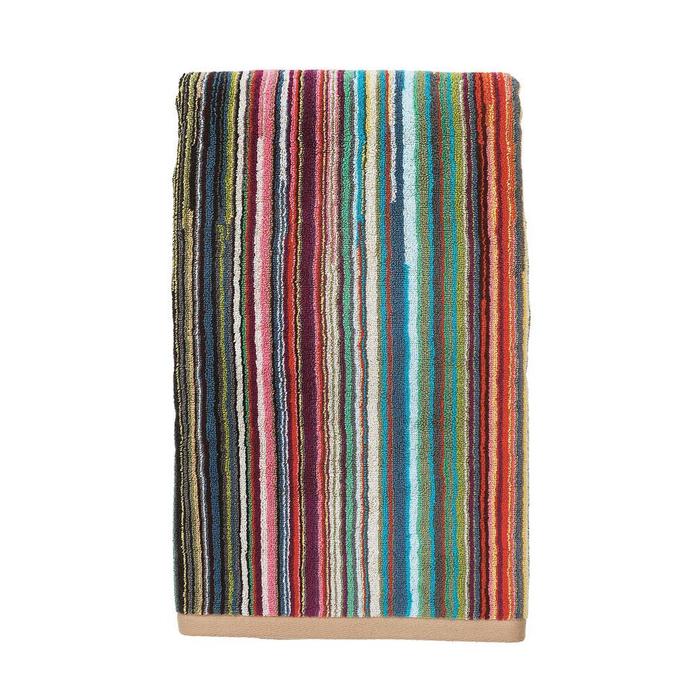 Rhythm Multicolored Striped Cotton Hand Towel