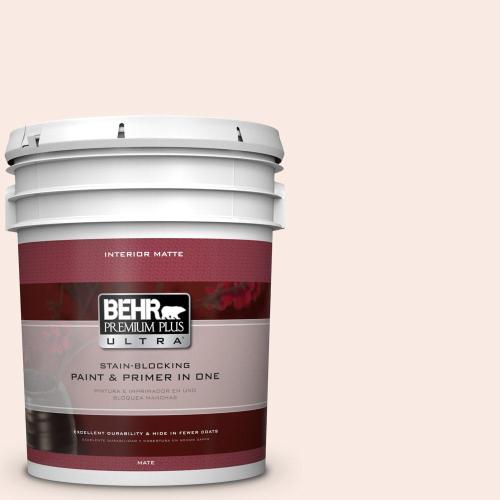 5 gal. #210E-1 Bella Pink Matte Interior Paint and Primer in