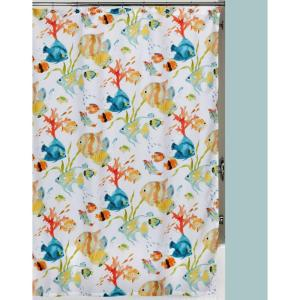 Creative Bath Rainbow Fish 72 inch x 72 inch Tropical-Themed Shower Curtain Set by Creative Bath