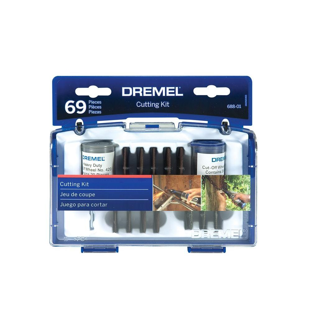 Dremel Rotary Cut-Off Wheel Assortment for Cutting Wood, Plastic, and Metal (69-Piece)
