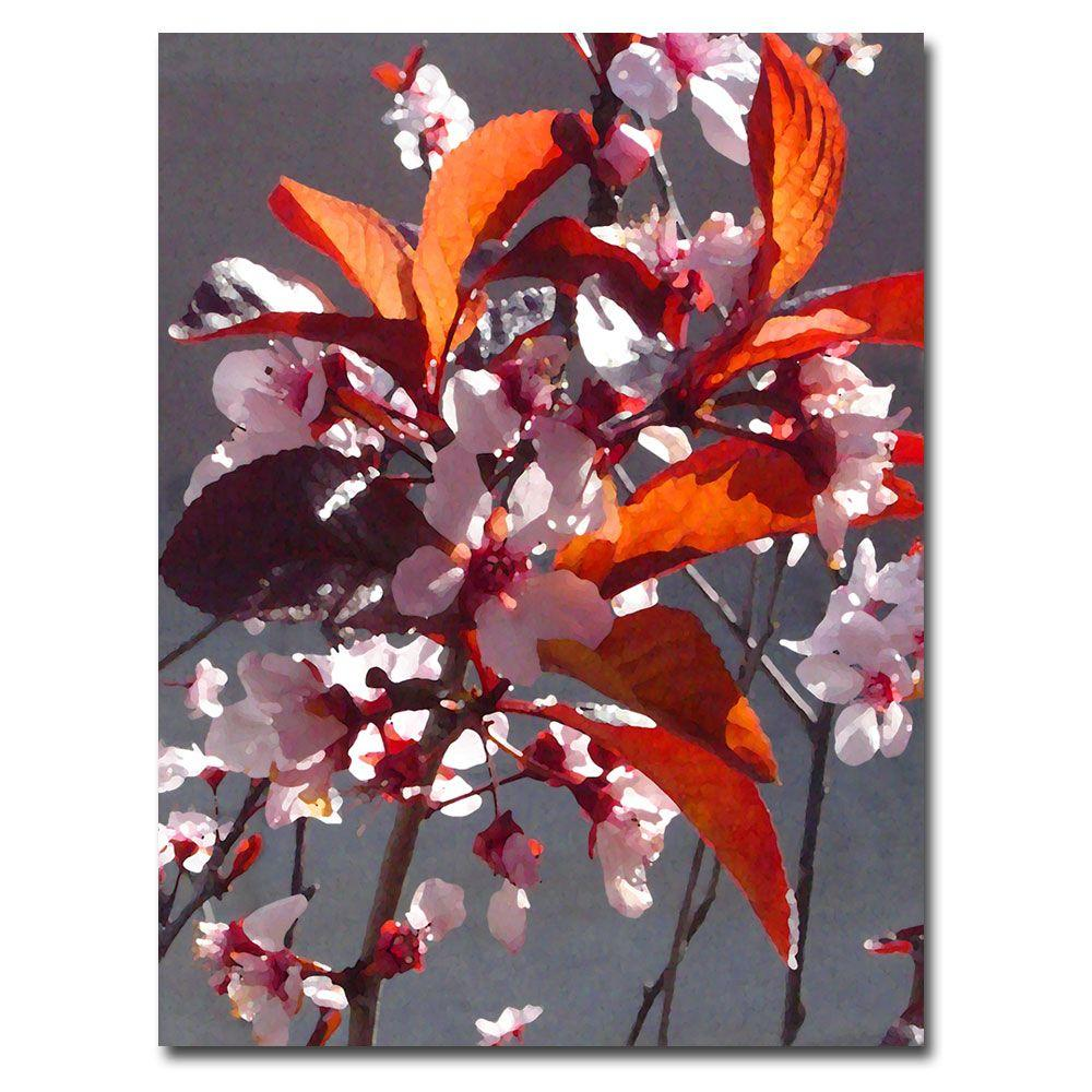 Trademark Fine Art 26 in. x 32 in. Pink Tree Blossoms Canvas Art