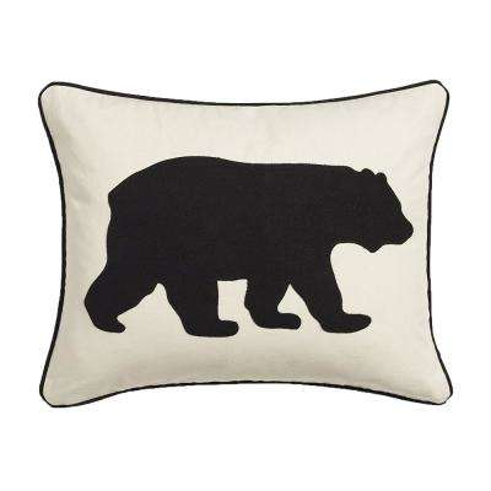 16 in. x 20 in. Black Bear Decorative Throw Pillow