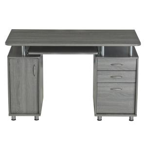 Grey Complete Workstation Computer Desk with Storage by