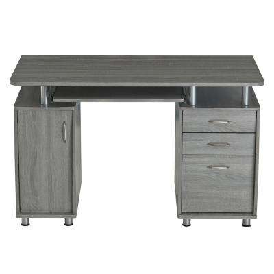 Grey Complete Workstation Computer Desk with Storage