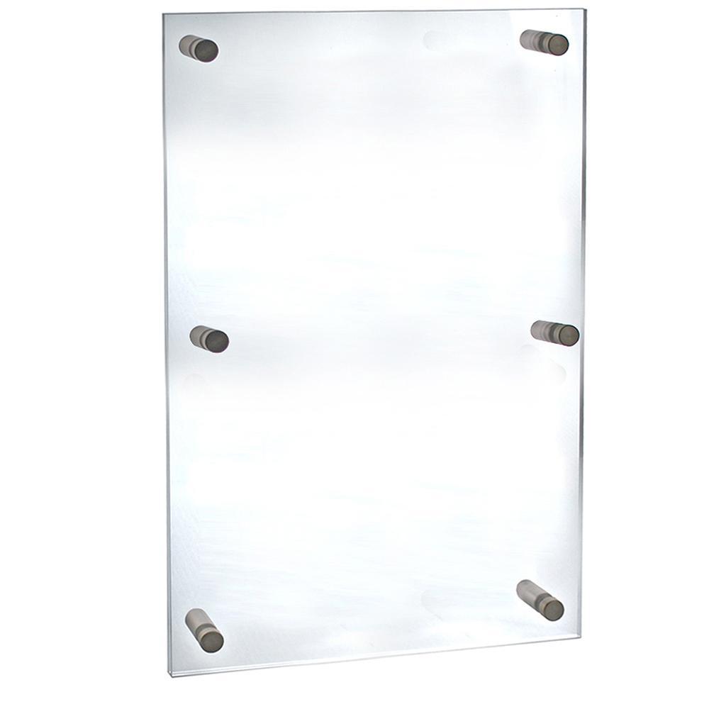 Azar Displays 30 In X 40 In Standoff Acrylic Sign Holder 105540