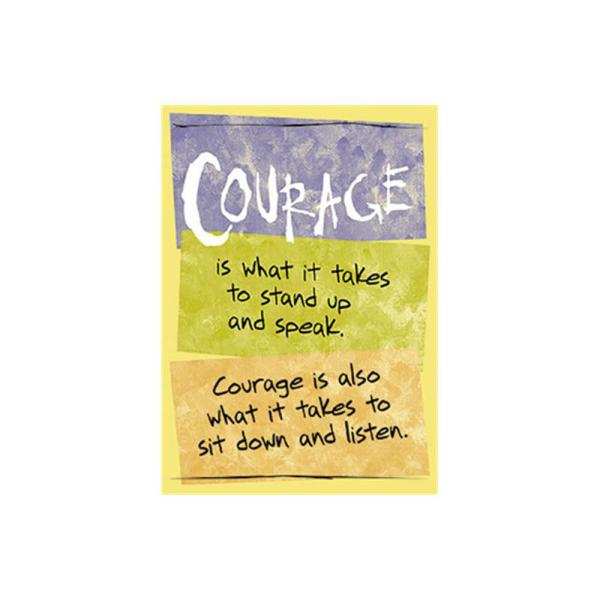 TREND ENTERPRISES INC. Courage is What It Takes Poster