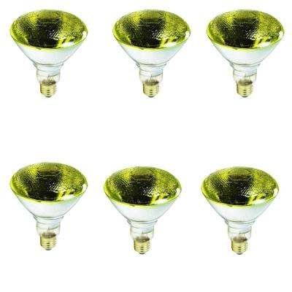 100-Watt PAR38 Incandescent Flood - Yellow Light Bulb (6-Pack)