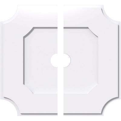 40 in. OD x 5 in. ID x 1 in. P Locke Architectural Grade PVC Contemporary Ceiling Medallion (2-Piece)
