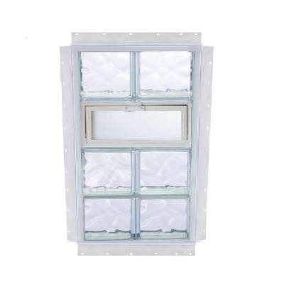 NailUp Vented Wave Pattern Glass Block Window