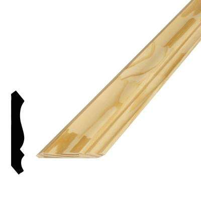 9/16 in. x 3-5/8 in. x 96 in. Pine Finger-Jointed Crown Moulding