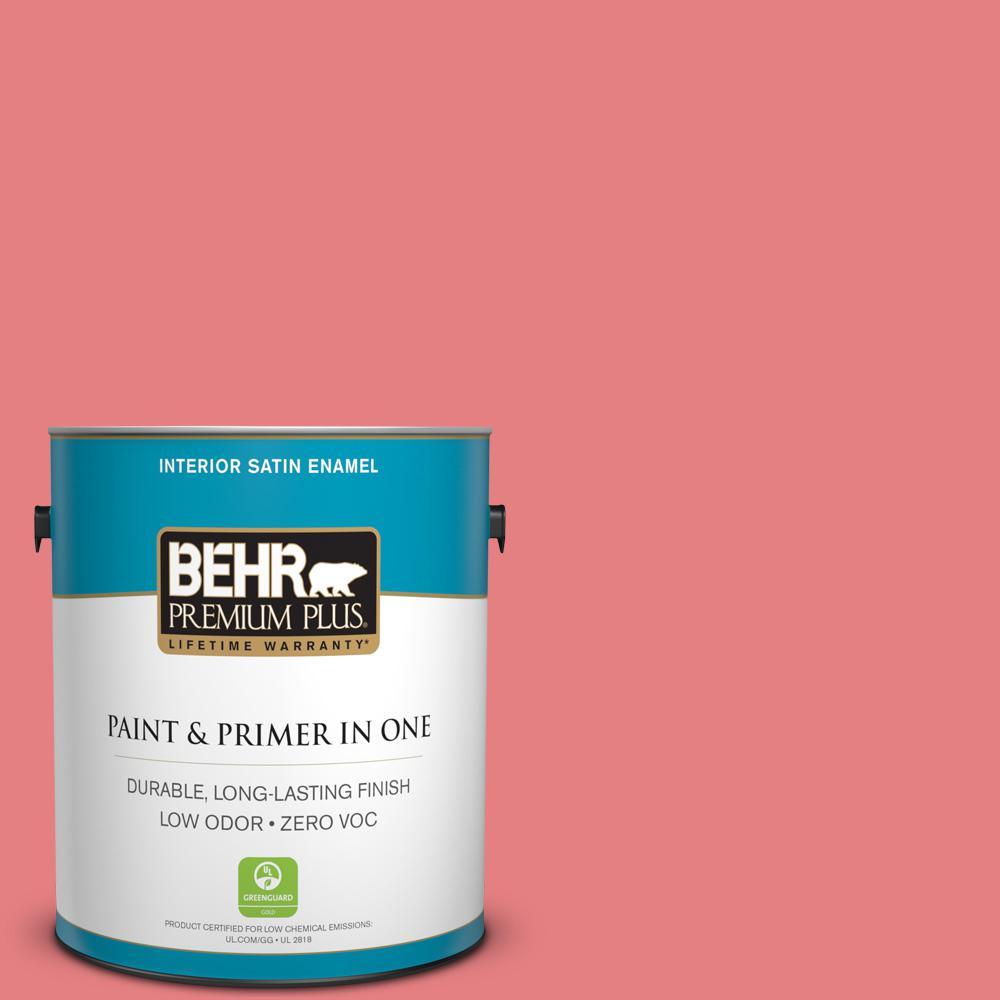1-gal. #P170-4 Sugar Poppy Satin Enamel Interior Paint