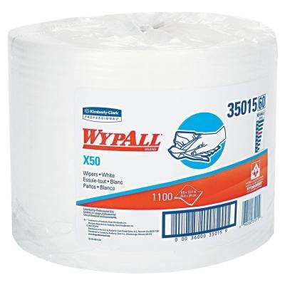 X50 White Perforated Wipers Jumbo Roll (1100-Roll)