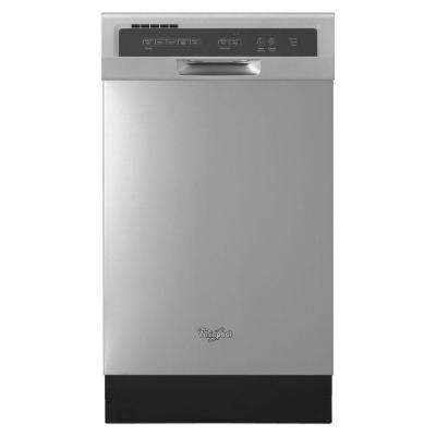 18 in. Front Control Dishwasher in Monochromatic Stainless Steel with Stainless Steel Tub