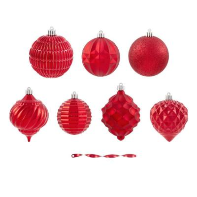 Holiday Traditions 80 mm Solid Red Shatterproof Ornament (60-Count)