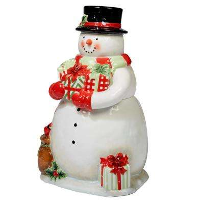 Starry Night Snowman by Susan Winget 3-D 11.5 in. Snowman Cookie Jar