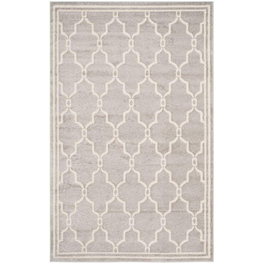 Safavieh Amherst Light Gray/Ivory 5 ft. x 8 ft. Indoor/Outdoor ...
