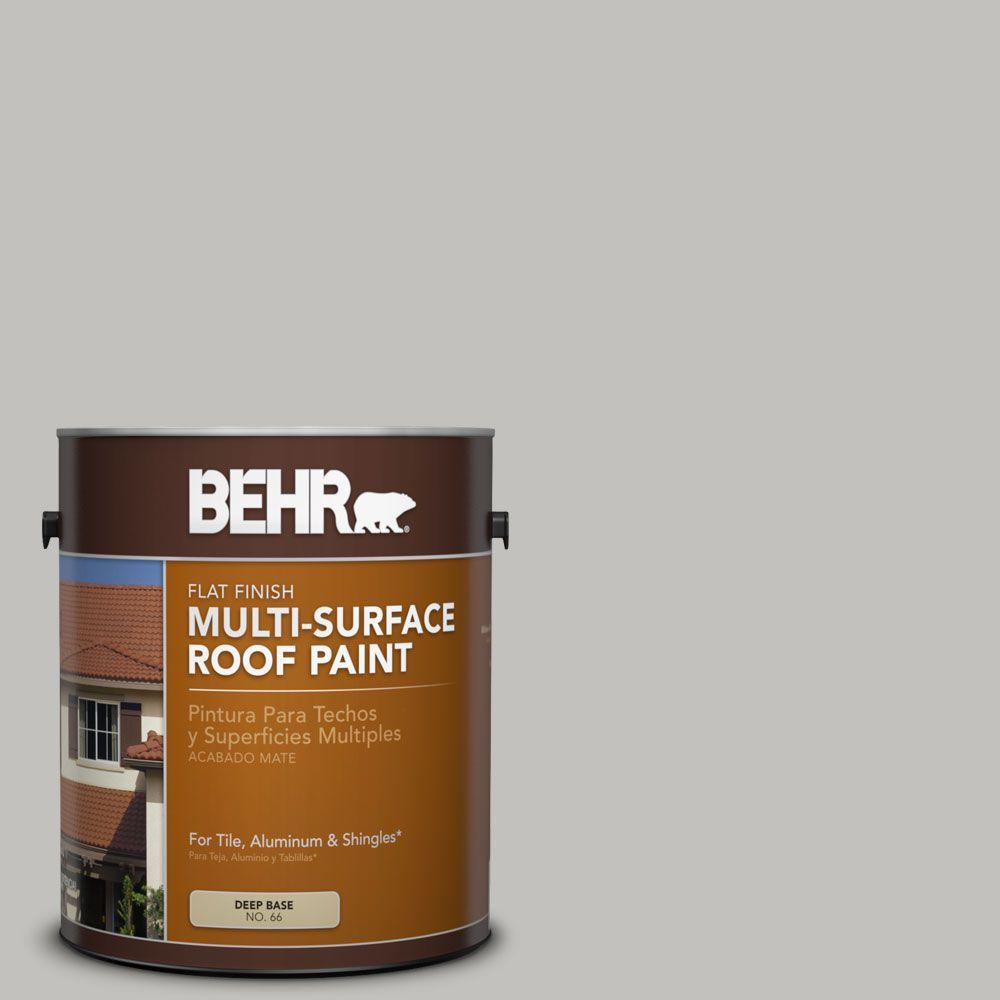 BEHR 1 gal. #RP-11 Gravel Gray Flat Multi-Surface Exterior Roof Paint
