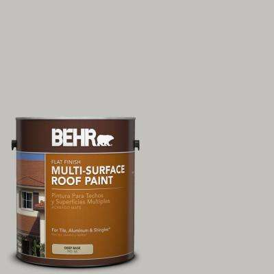 1 gal. #RP-11 Gravel Gray Flat Multi-Surface Exterior Roof Paint