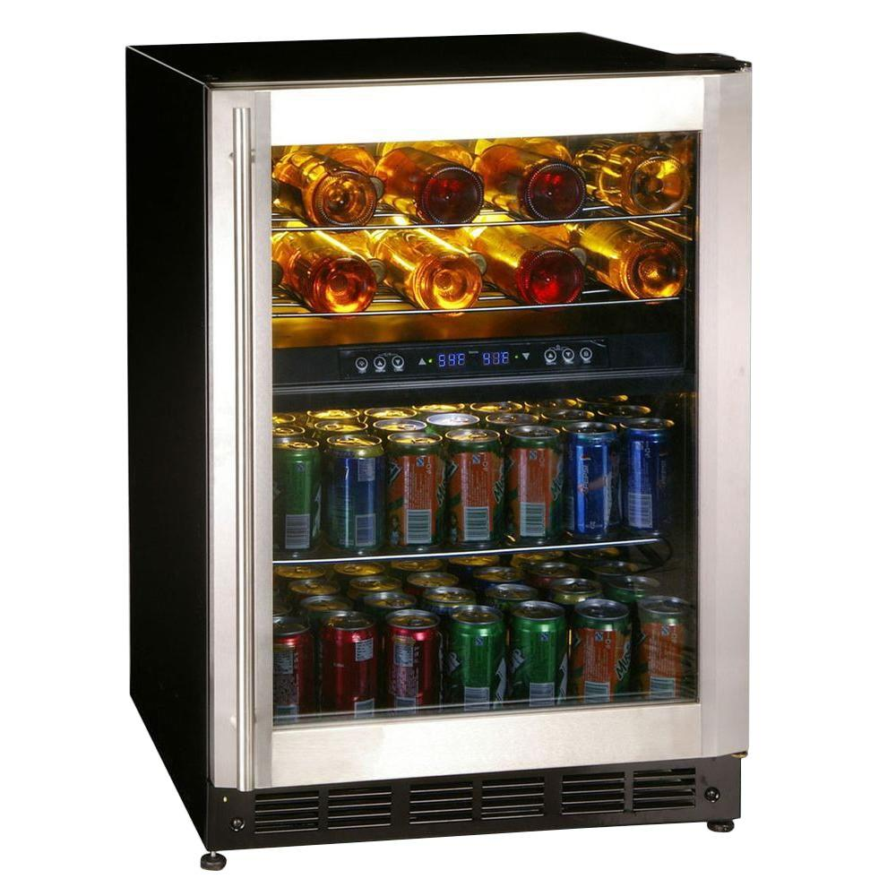 Magic chef 16 bottle 77 can dual zone wine and beverage cooler magic chef 16 bottle 77 can dual zone wine and beverage cooler mcwbc77dzc the home depot planetlyrics Choice Image