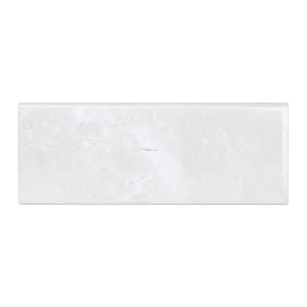Delray White 3 in. x 8 in. Ceramic Trim Wall Tile