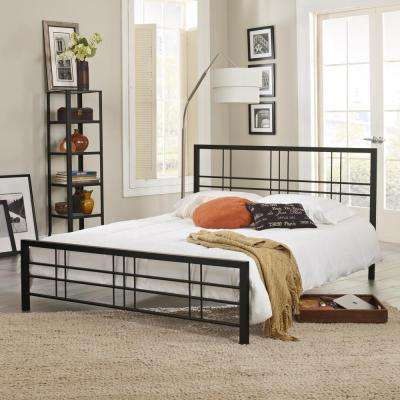 Courta Black Queen Bed Frame