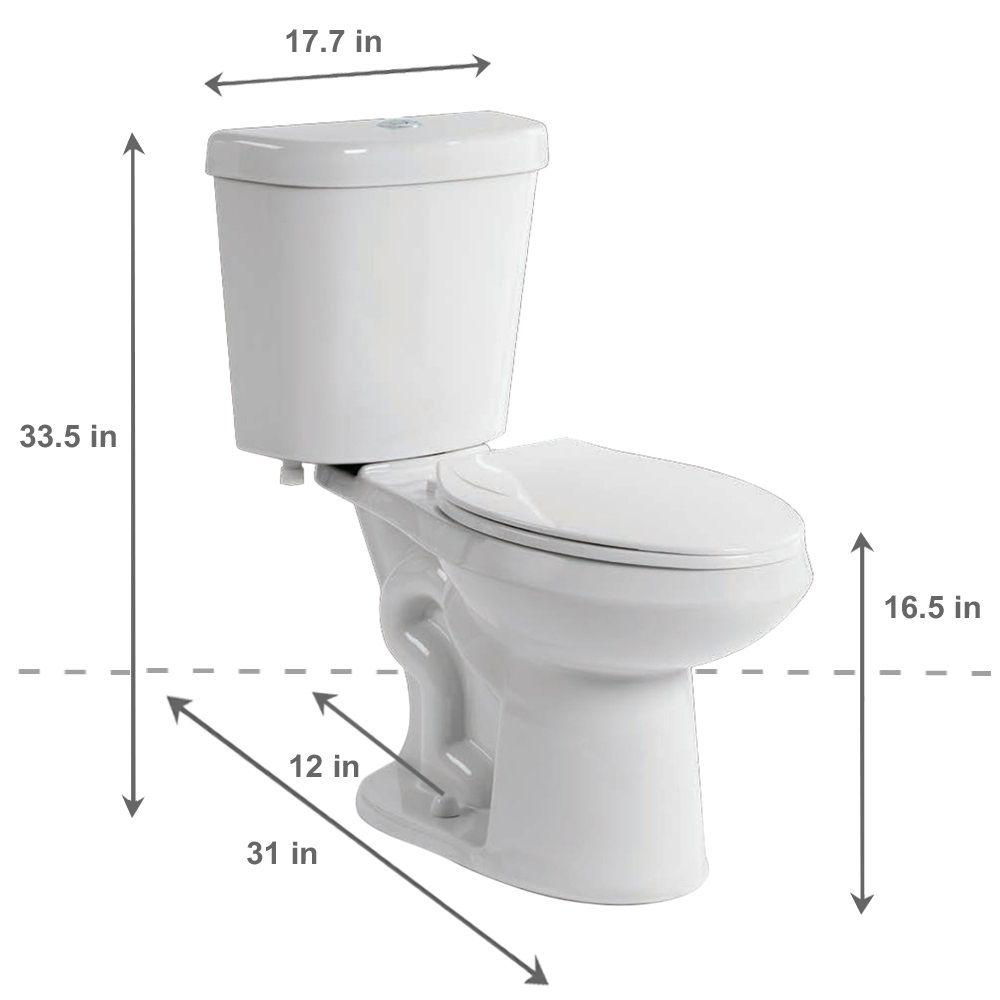 Terrific Glacier Bay 2 Piece 1 1 Gpf 1 6 Gpf High Efficiency Dual Flush Complete Elongated Toilet In White Seat Included Spiritservingveterans Wood Chair Design Ideas Spiritservingveteransorg