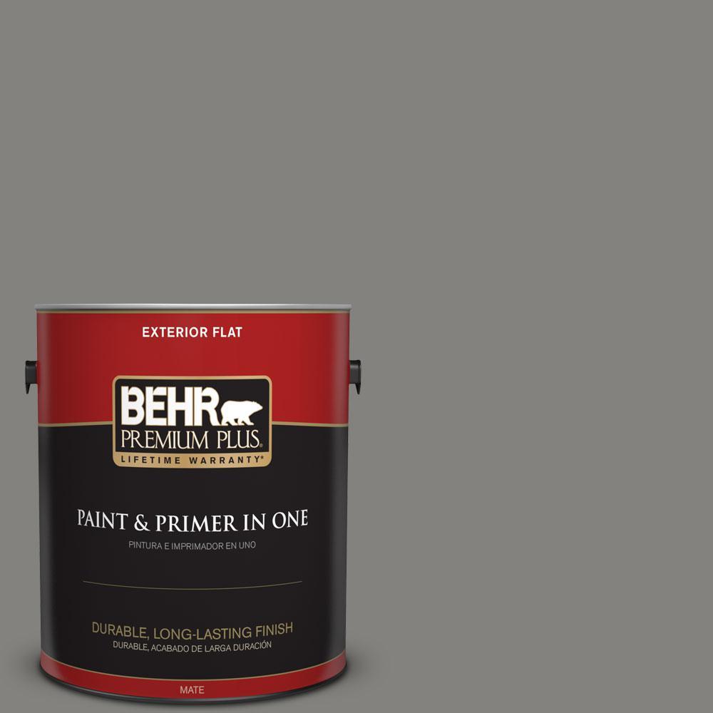 1-gal. #BNC-25 Gray Pepper Flat Exterior Paint