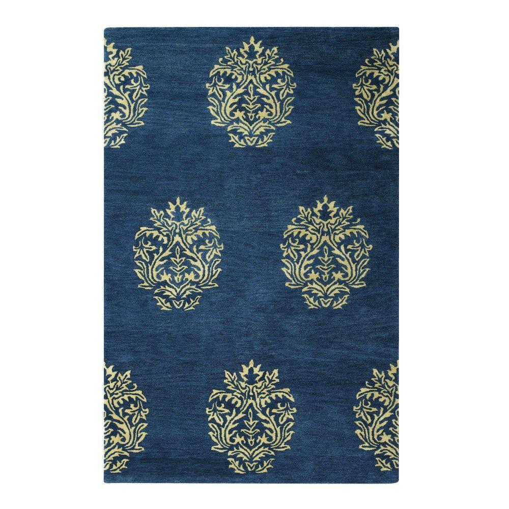 Home decorators collection martine blue beige 8 ft x 11 for Home decorators rugs blue