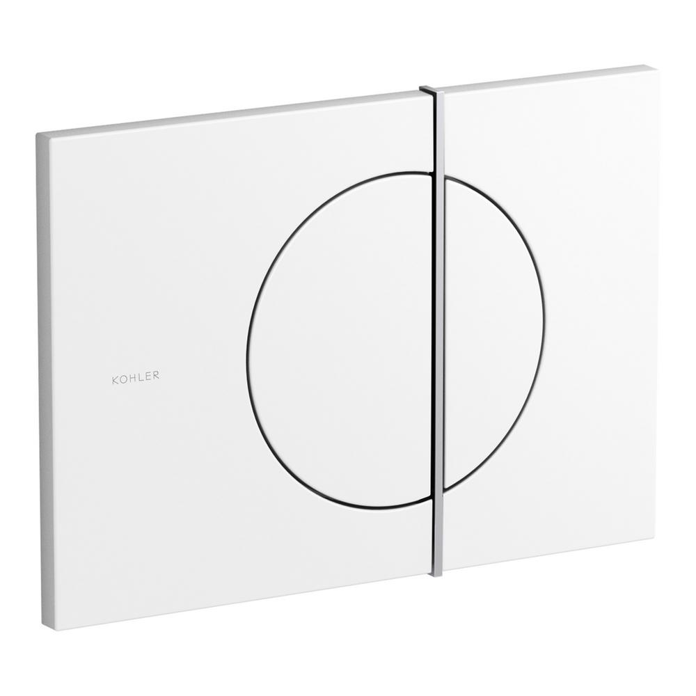 Flush Actuator Plate for Veil In-Wall Tank in Glossy White with