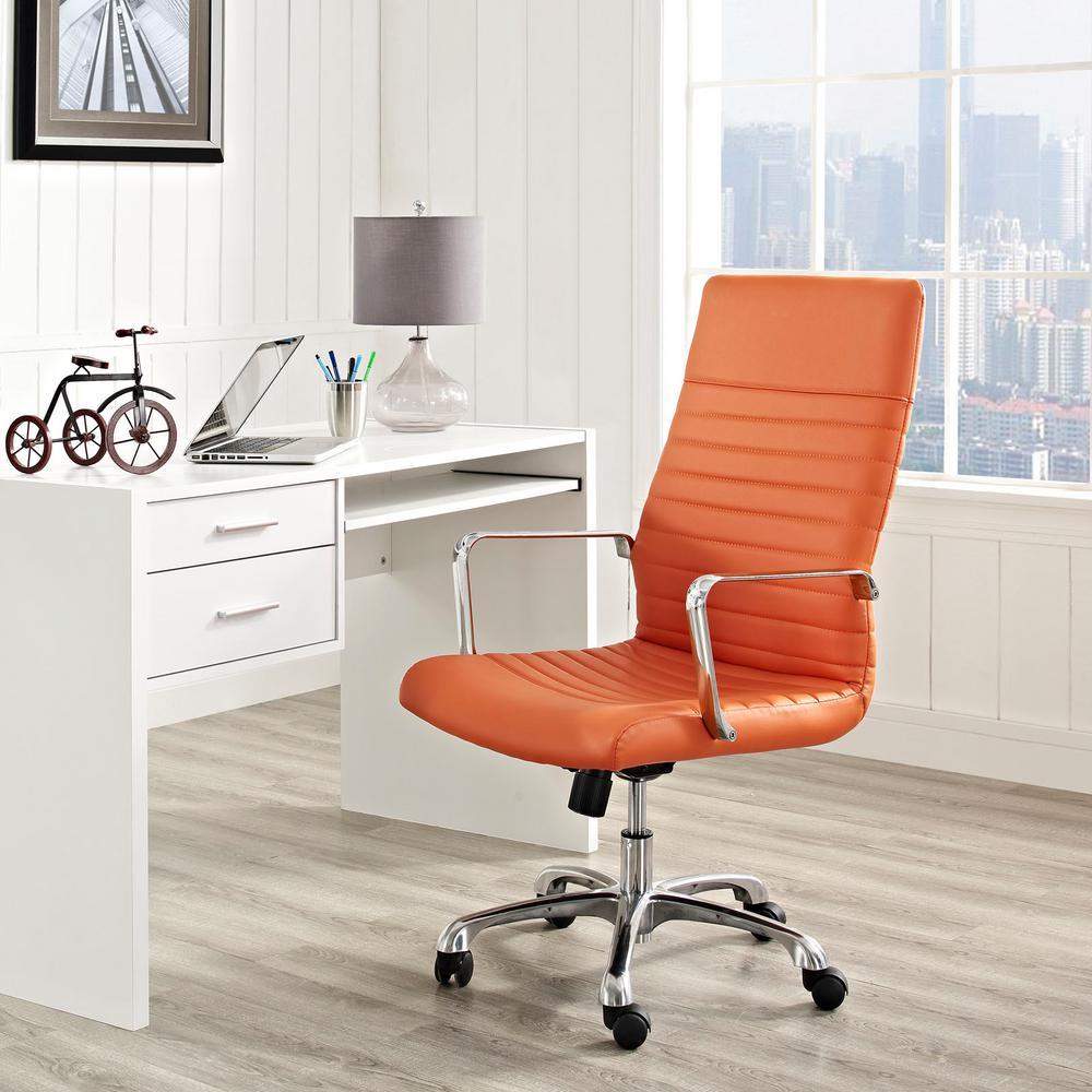 MODWAY Finesse Highback Office Chair in Orange EEI-1061-ORA