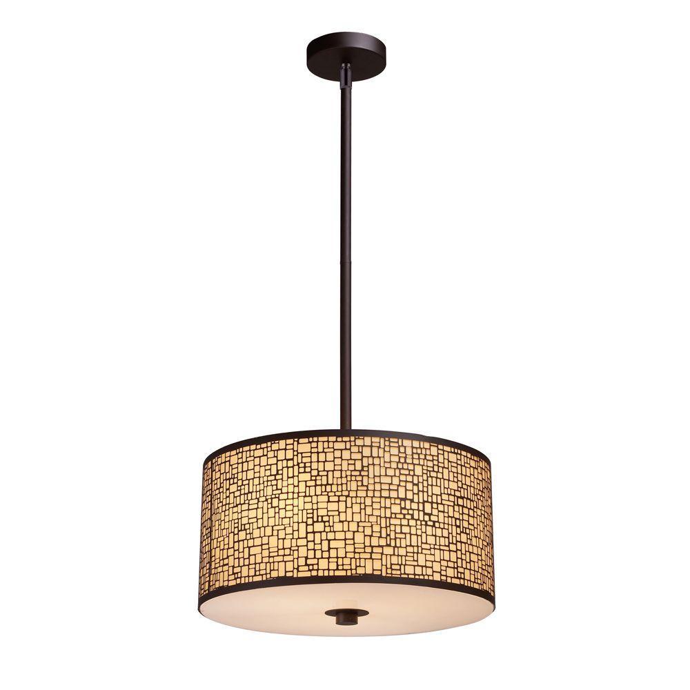 Titan Lighting Medina 3-Light Aged Bronze Pendant