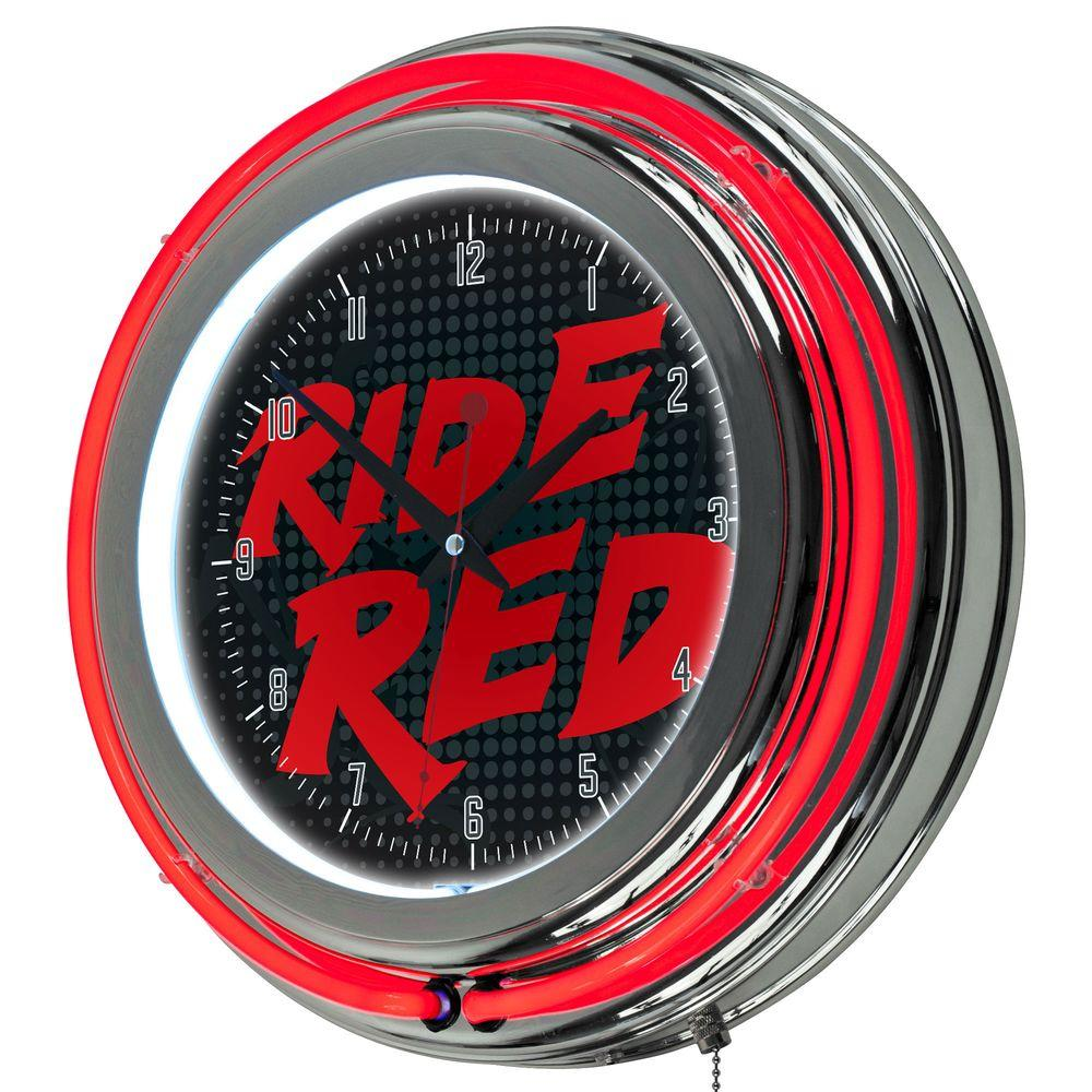 3 in. x 14 in. Honda Ride Red Chrome Double Ring