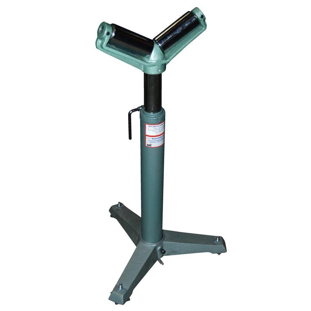 Vestil adjustable 26 in to 36 in v shaped range roller for Stand 2 b